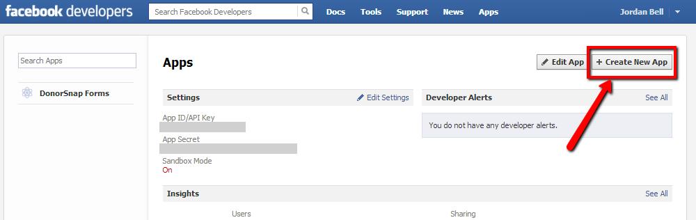 Create a New Facebook Tab App