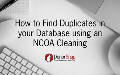 How to Find Duplicates in your Database using an NCOA Cleaning