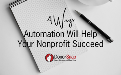 Four Ways Automation Will Help Your Nonprofit Succeed