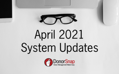 DonorSnap April 2021 System Updates
