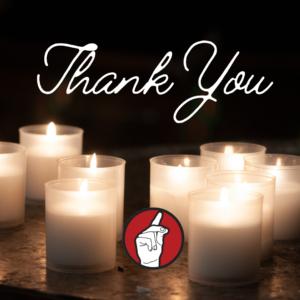 memorial donation thank you