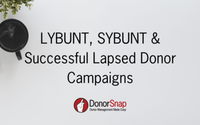LYBUNT, SYBUNT and Successful Lapsed Donor Campaigns