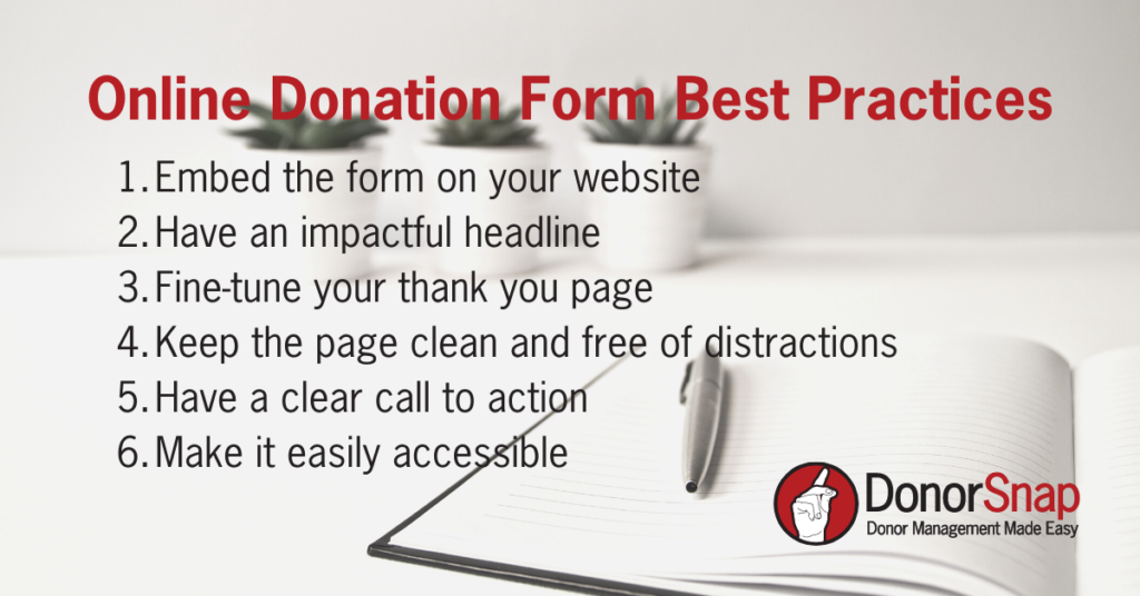 Online Donation Forms best practices