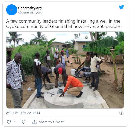 Impact story social post example