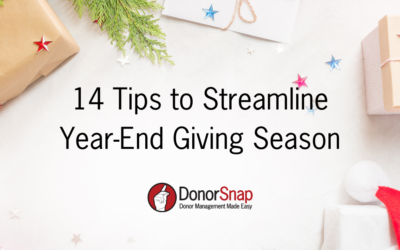 14 Tips to Streamline Year-End Giving Season