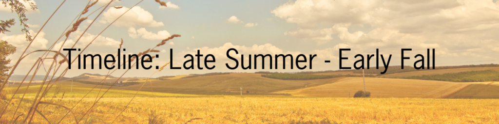 How to prepare before year end giving season header, timeline: late summer - early fall