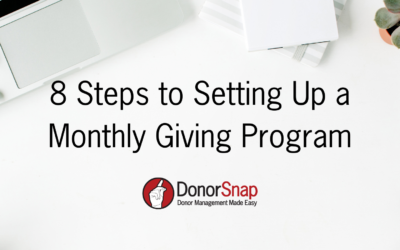 8 Steps to Setting up a Monthly Giving Program